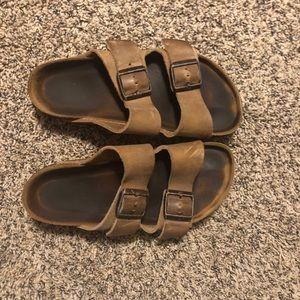 Size 37 Brown Leather Birkenstocks
